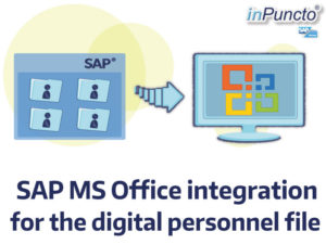 Microsoft office integration for the digital personel file with inPuncto software