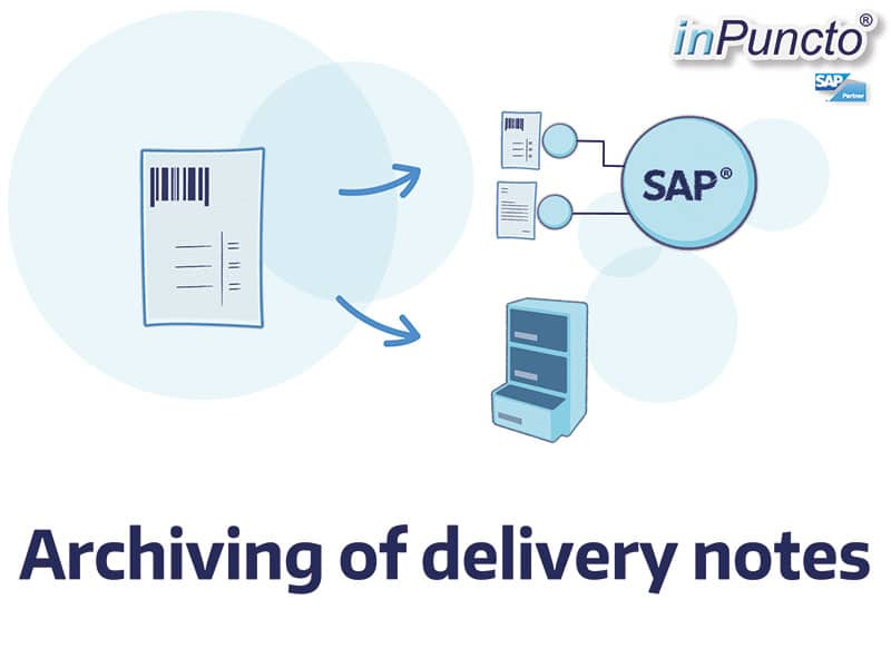 Allocation and archiving of delivery notes