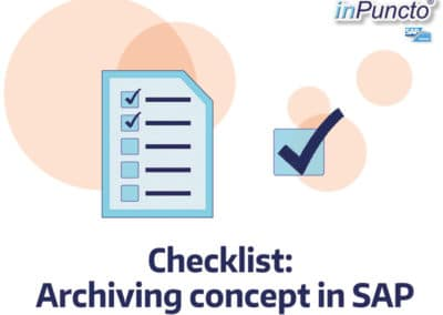 Your Checklist: Archiving concepts in SAP conformable to law