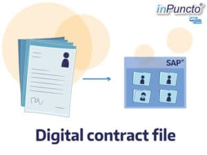 Digitalizing contract file and transfering it to SAP