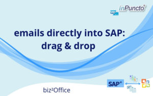 emails directly from Outlook to SAP using drag and drop