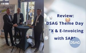 DSAG theme day 2019 e-invoicing