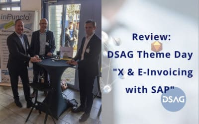 "DSAG Theme Day ""X & E-Invoicing with SAP"": inPuncto participates as an exhibitor"