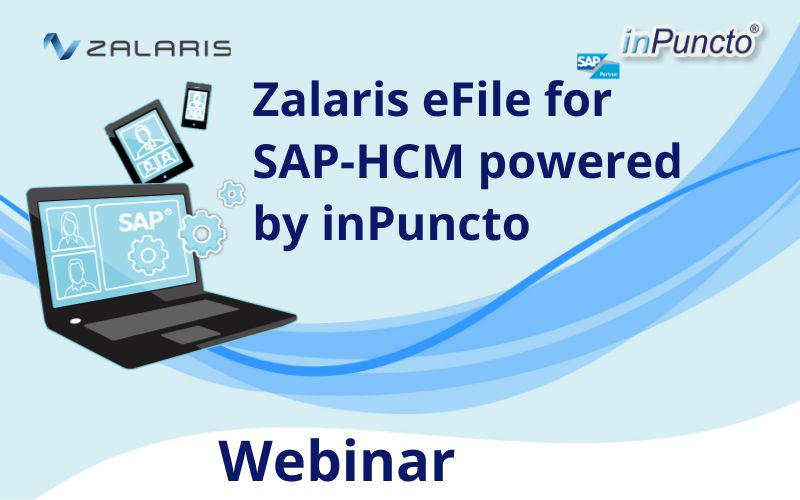 Register NOW: eFile for SAP-HCM from Zalaris powered by inPuncto